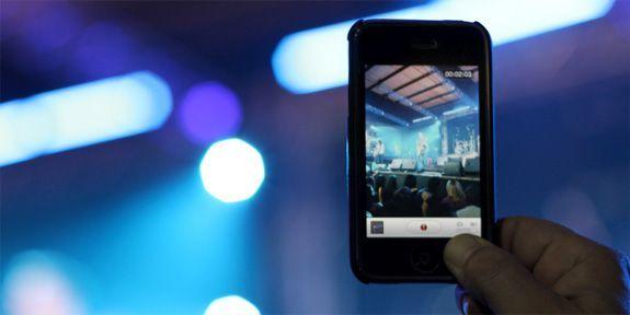 Apple non fa registrare i video durante i concerti live