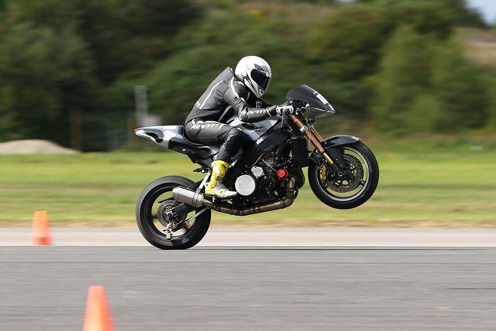 Egbert van Popta record impennata moto
