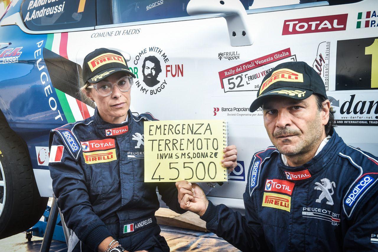 Peugeot Andreucci Andreussi rally friuli terremoto 2016