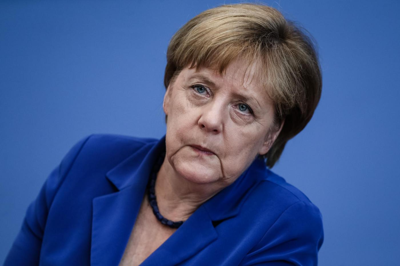 GERMANY BERLIN MERKEL NINE POINT PLAN