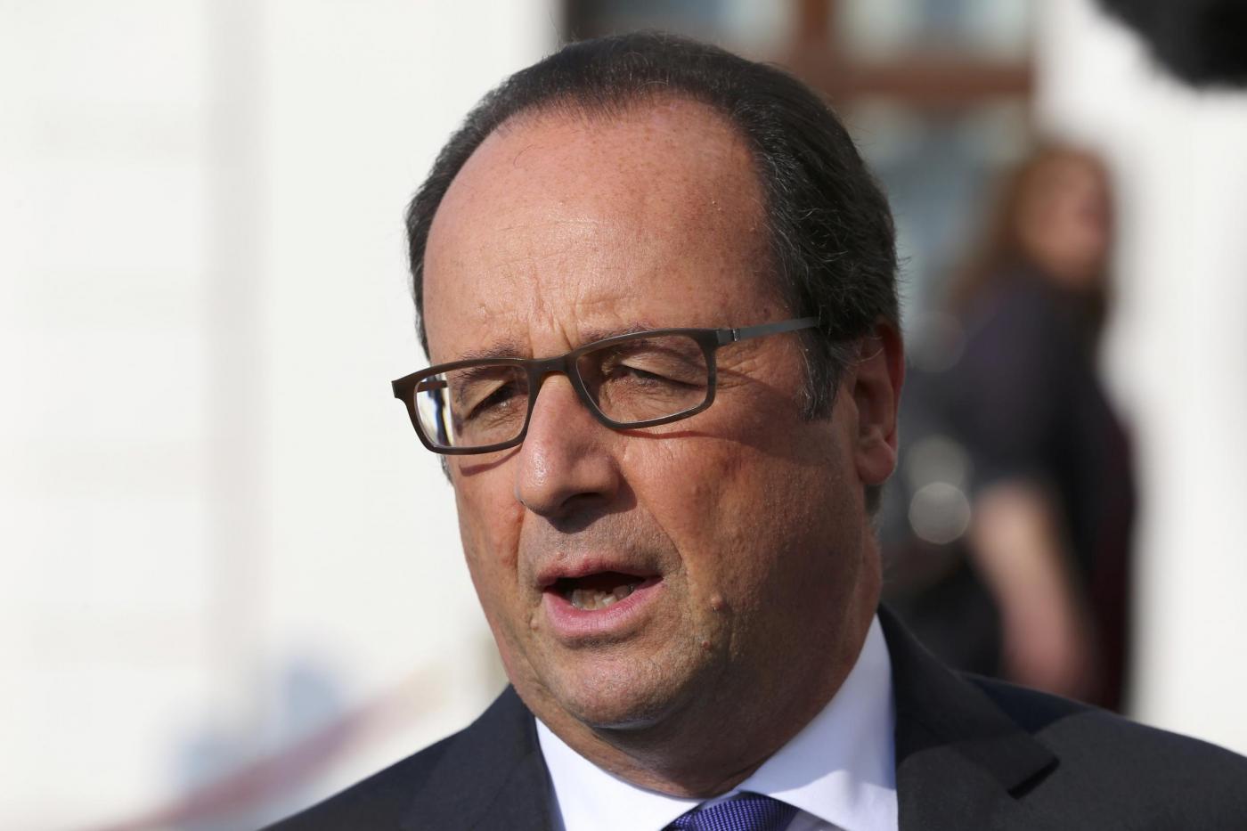 Il presidente francese Francois Hollande al summit EU di Bratislava
