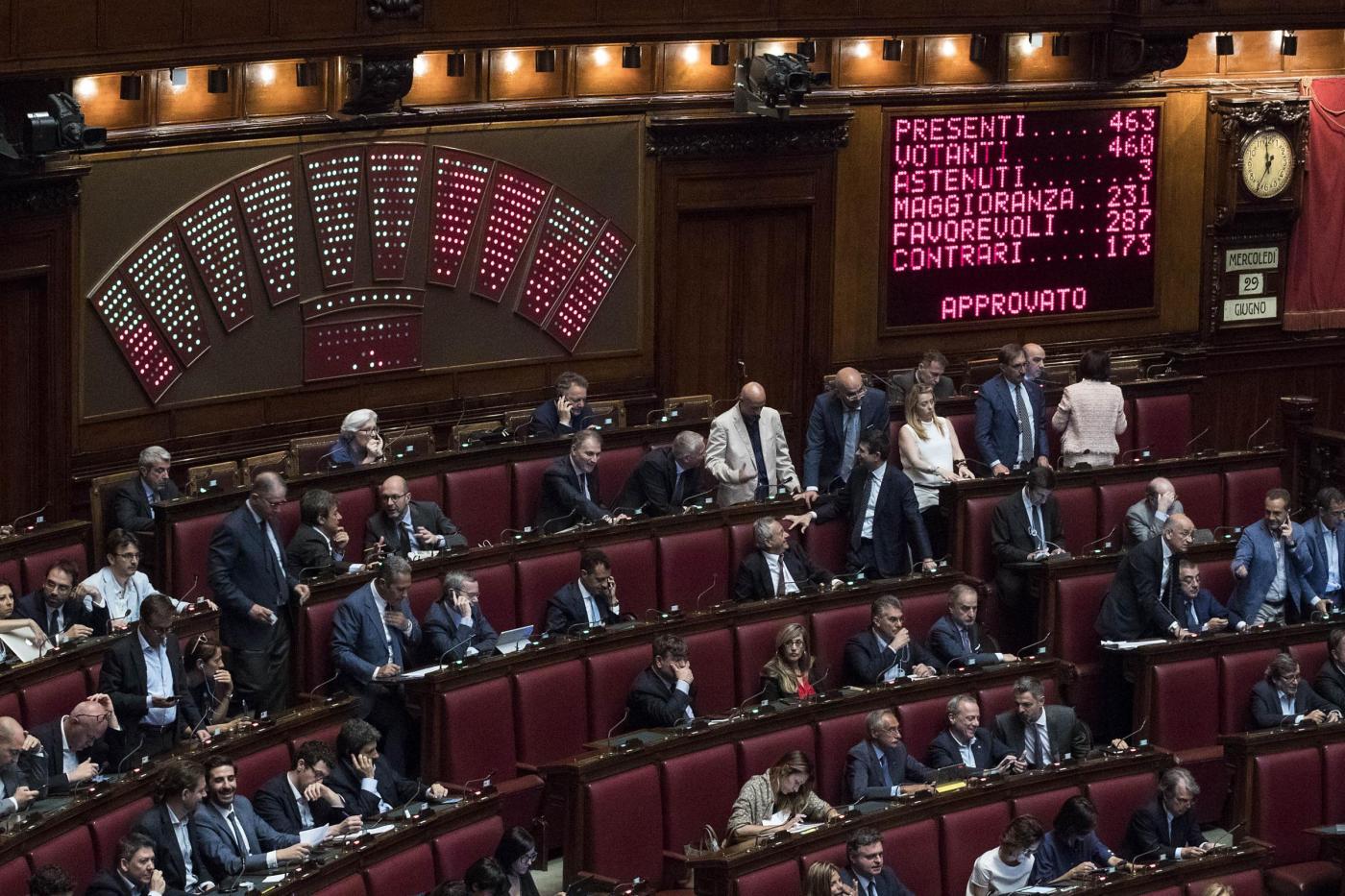 Camera dei Deputati Voto finale su dl Banche
