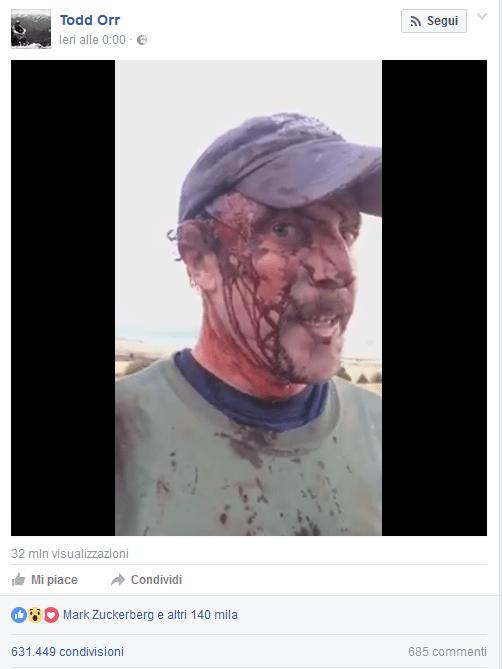 Salvo da due attacchi di orsi posta video su Facebook: Mark Zuckerberg mette 'mi piace'