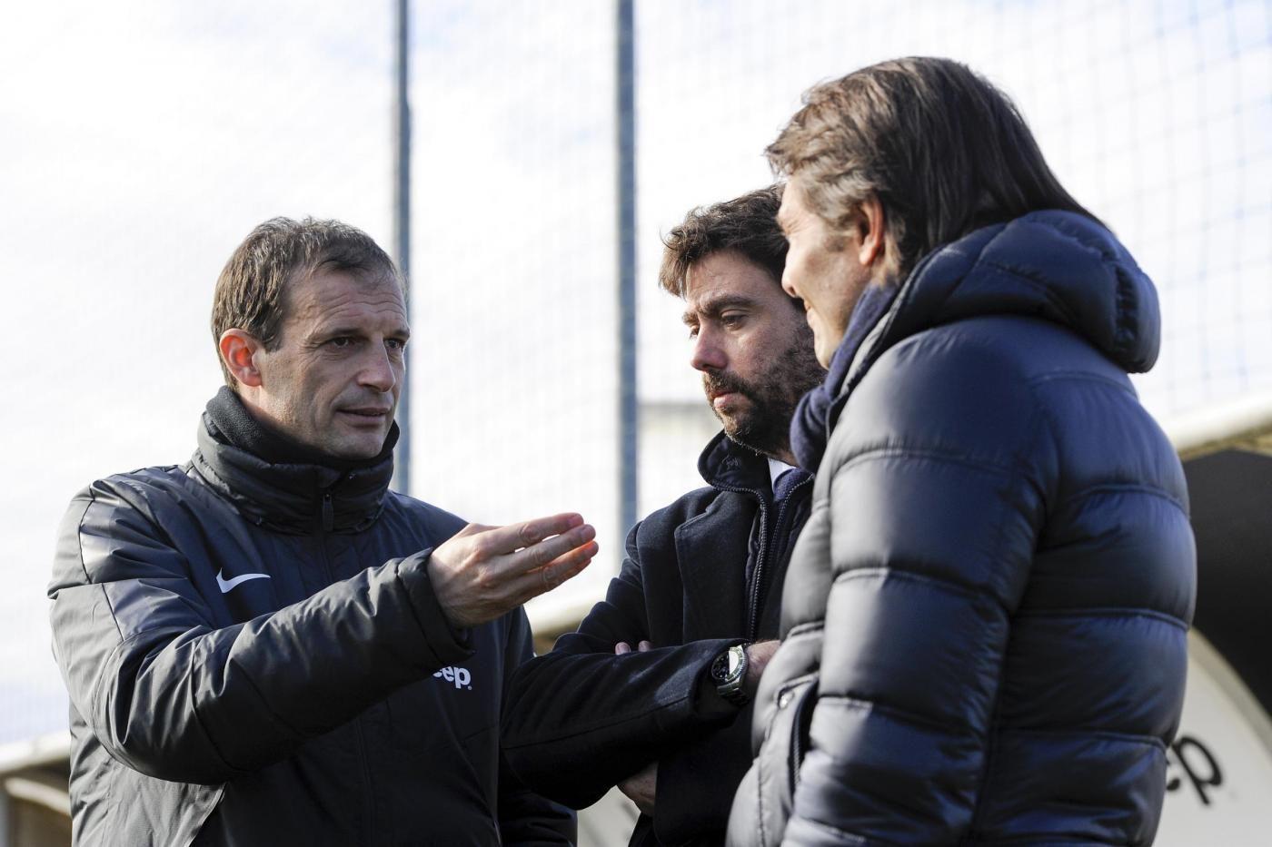 Juventus, il ct Antonio Conte in visita a Vinovo