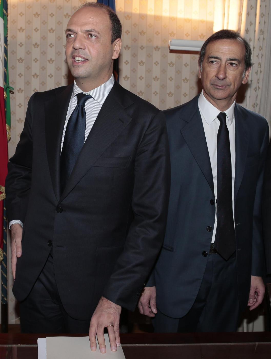 Ministro dell'Interno Angelino Alfano e sindaco di Milano Beppe Sala