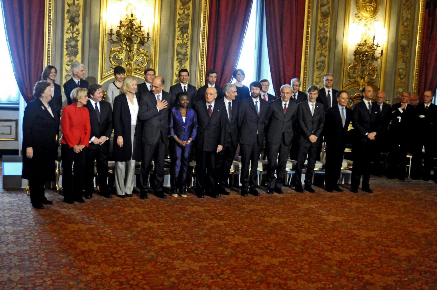 Quirinale, Giuramento del nuovo Presidente del Consiglio. Enrico Letta
