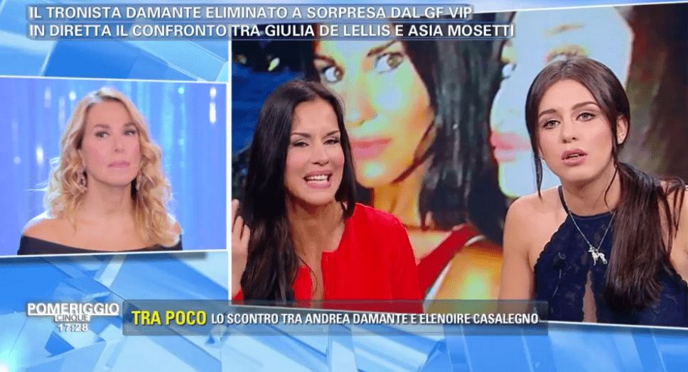 Fuori onda di Antonella Mosetti, Barbara D'Urso replica in diretta a Pomeriggio 5