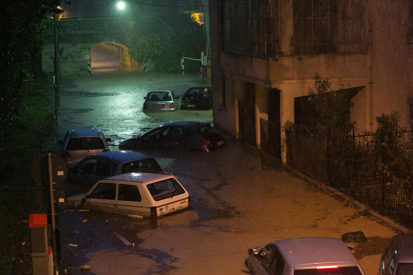Maltempo, esondazione Torrente Maremola a Pietra Ligure