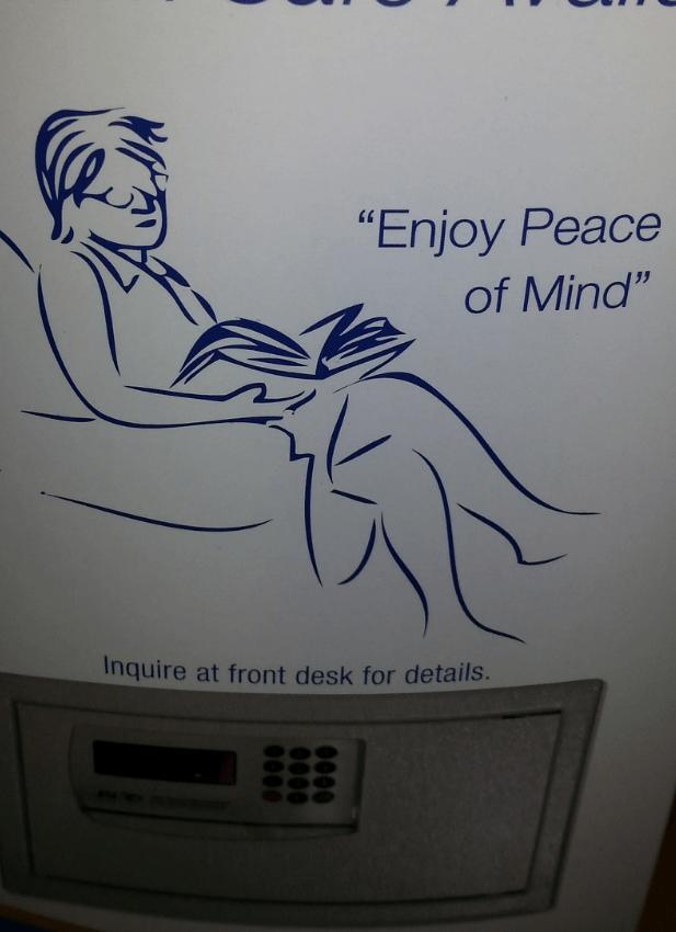 illusione ottica enjoy peace of mind