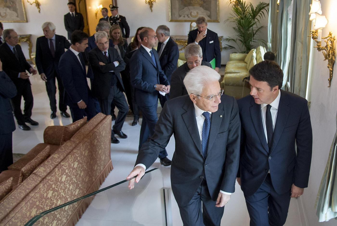 Quirinale, Mattarella riceve Presidente Renzi
