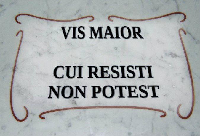 forza maggiore latino