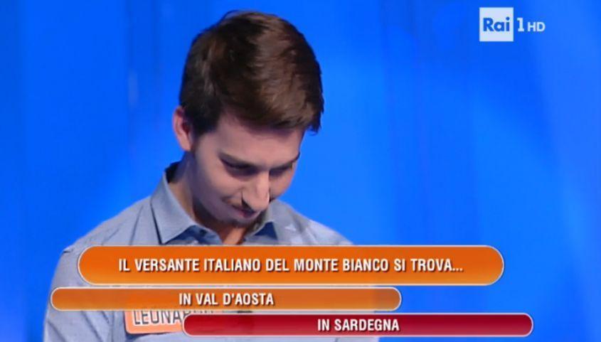 L'Eredità, l'errore del concorrente che stupisce tutti: 'Il Monte Bianco è in Sardegna'