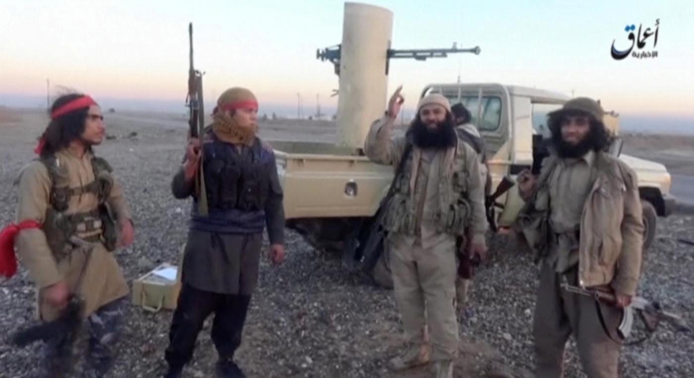 Fermo immagine di sedicenti militanti dello Stato Islamico