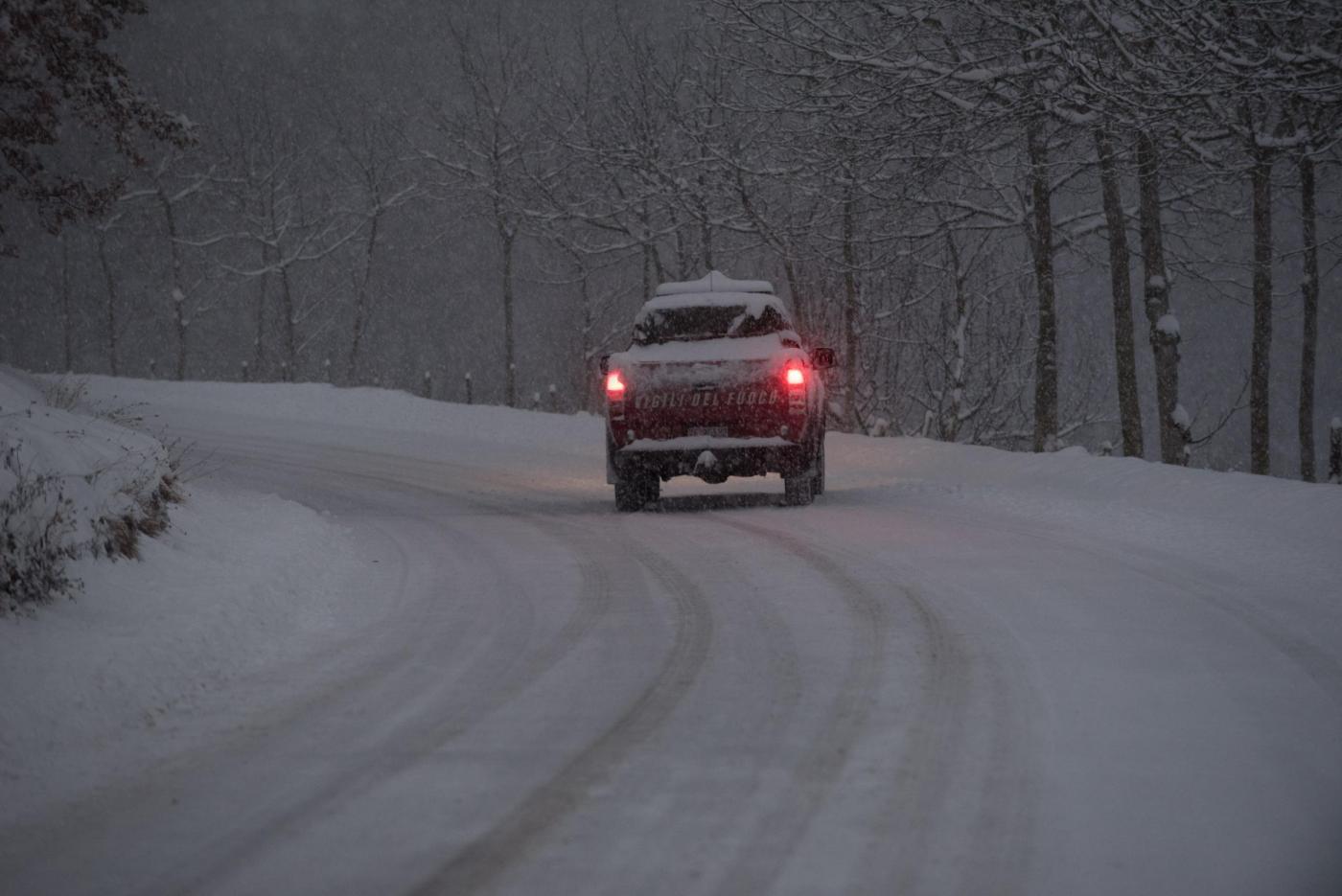 Maltempo Centro Italia, neve nelle zone terremotate