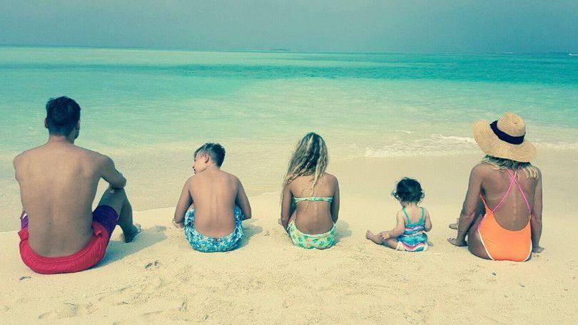 Totti e Ilary con i figli