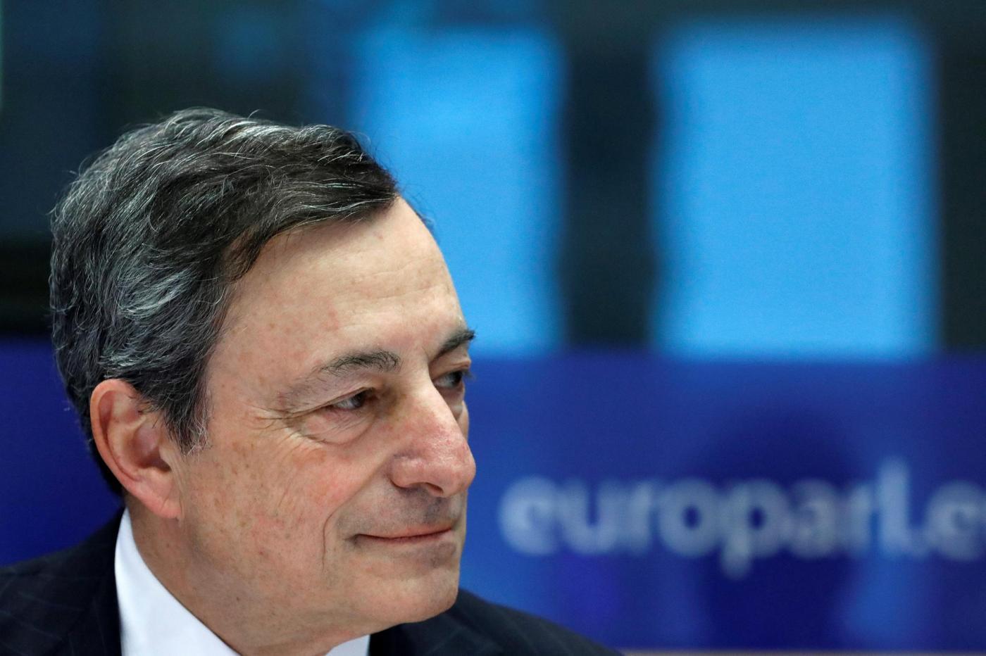 Bruxelles, il presidente BCE Draghi alla commissione affari monetari