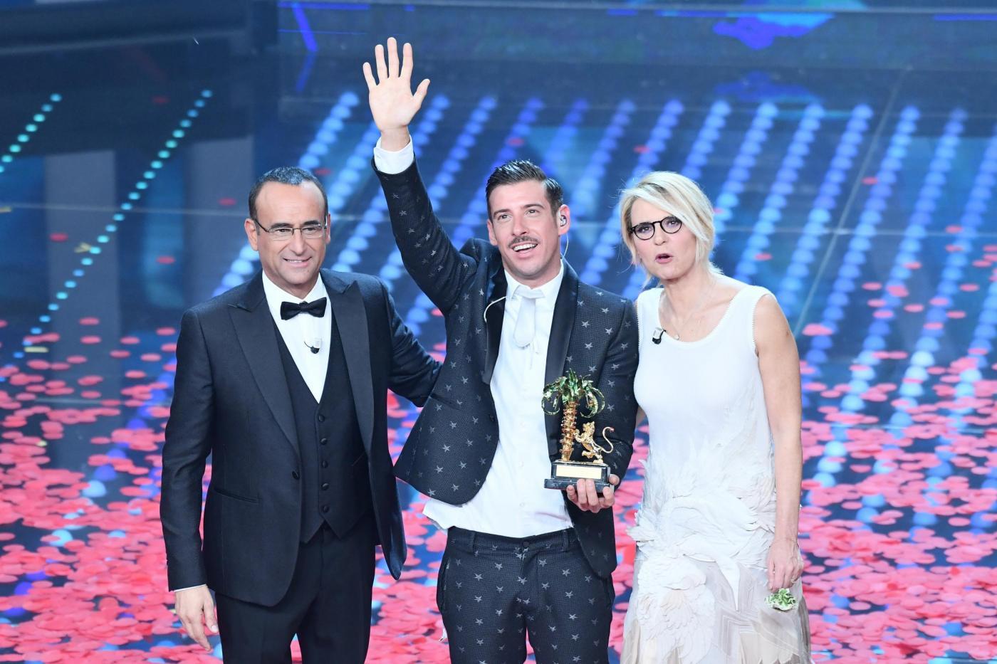 Sanremo 2017 ascolti della finale