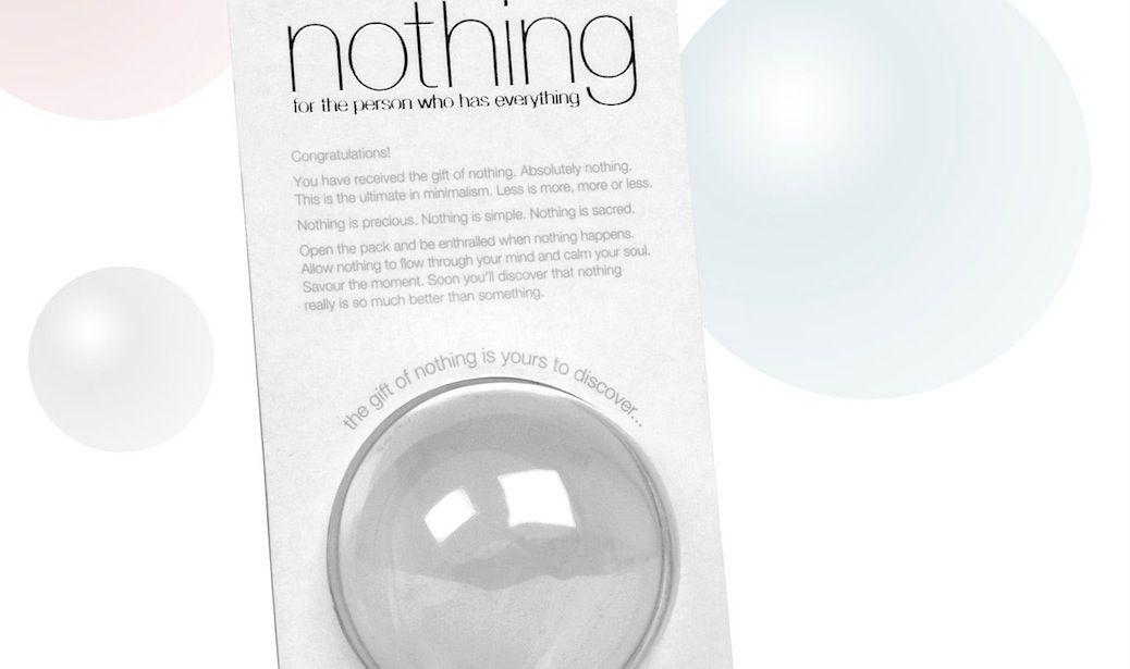 Acquistare il Niente, si chiama Nothing e comprate… niente