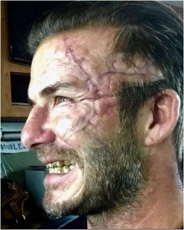 David Beckham così brutto non l'avete mai visto