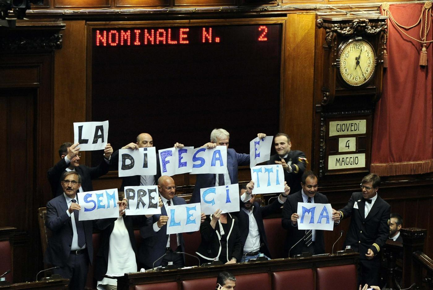 Camera dei Deputati. Discussione e voto sulla modifica dell'articolo del Codice Penale sulla legittima difesa