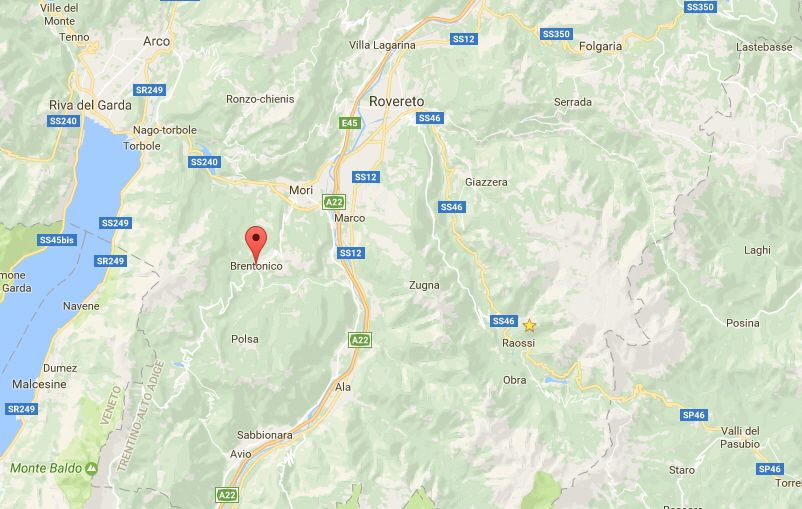Terremoto in Trentino