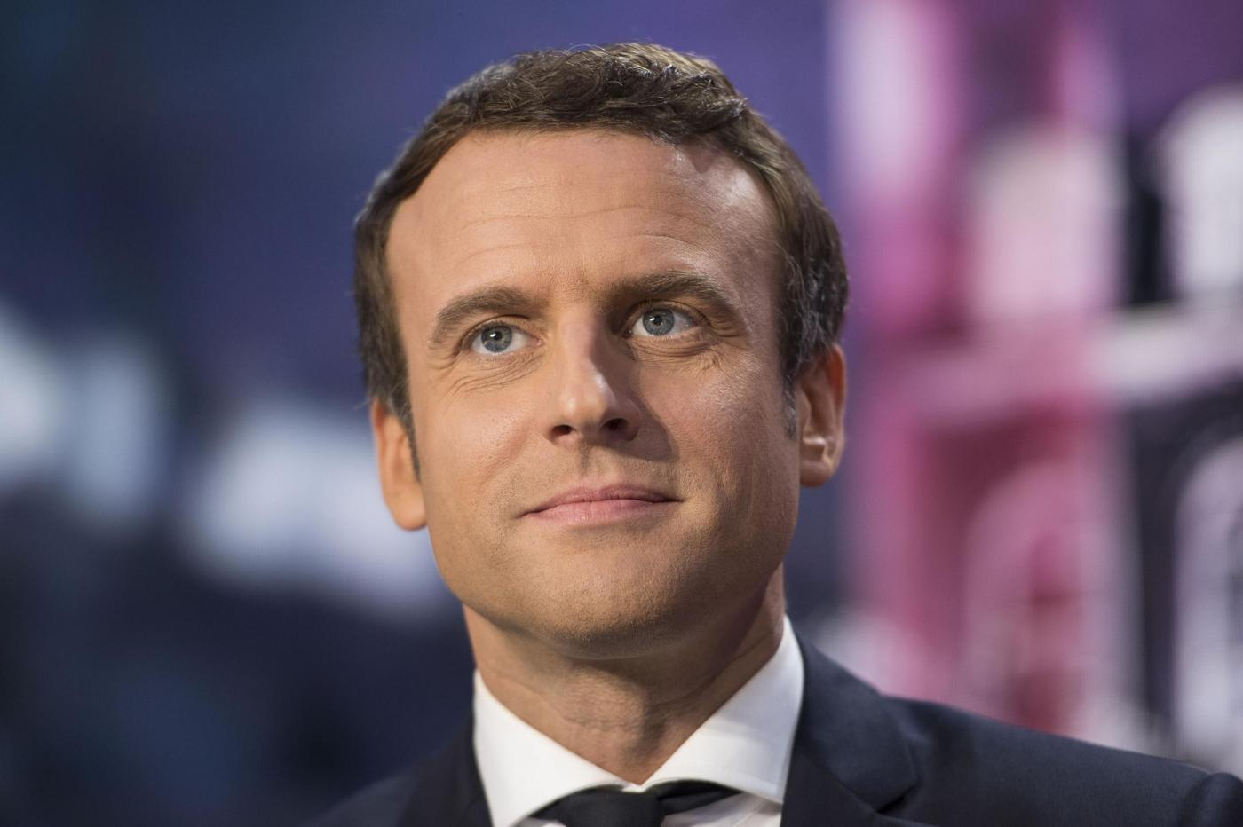 Emmanuel Macron alla tv francese