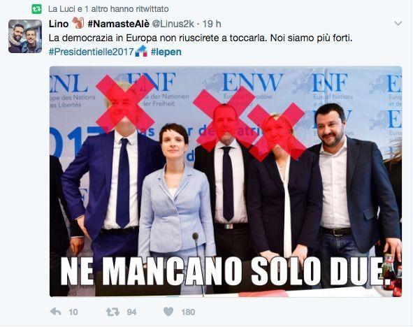 Marine Le Pen sconfitta al ballottaggio, i meme sulla leader del Front National