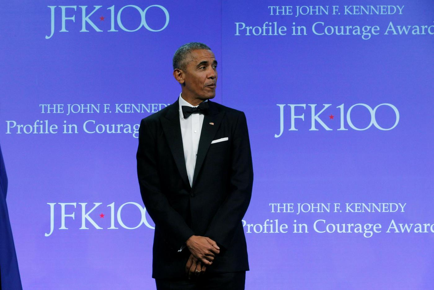 Boston, la cerimonia dei Profile in Courage Award con Barack Obama