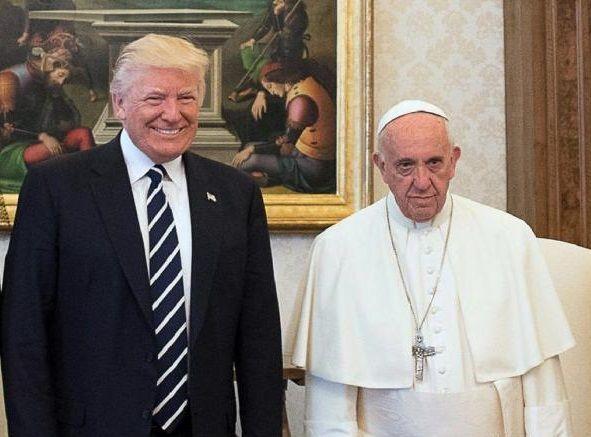 Papa Francesco incontra il presidente Trump in Vaticano