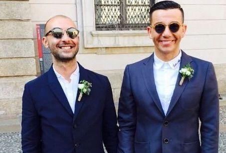 Diego Passoni si è sposato matrimonio con Pier Mario Simula a Milano