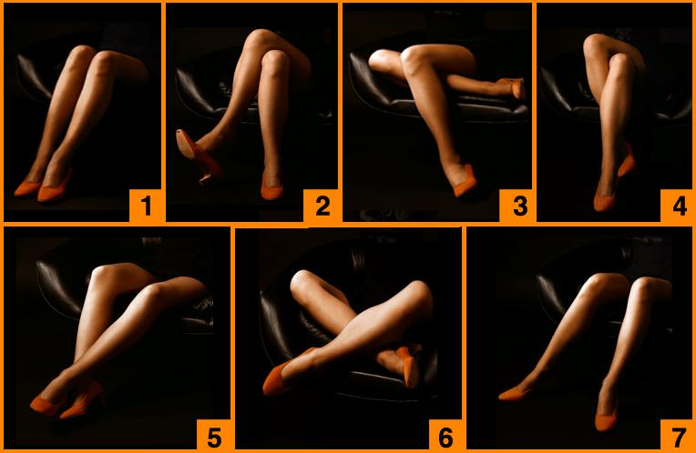 Posizione delle gambe da suduti e personalita