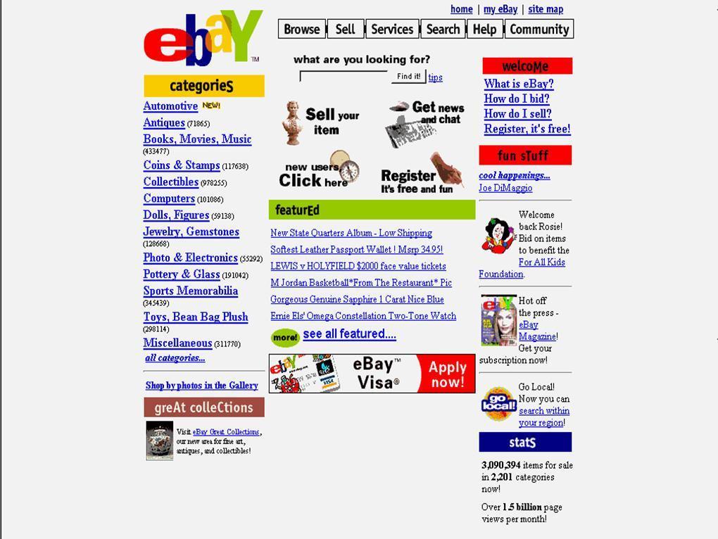 eBay compie 20 anni