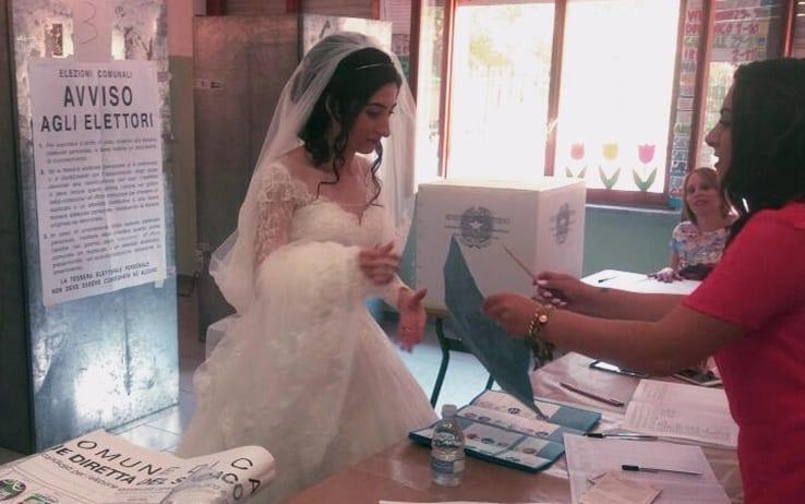 elezioni sposa voto