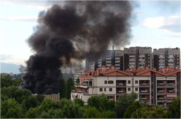 Incendio Bruzzano