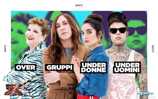 X Factor 11 categorie giudici Fedez bis under uomini