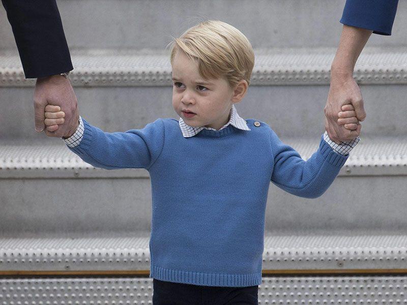 Principino George primo giorno di scuola