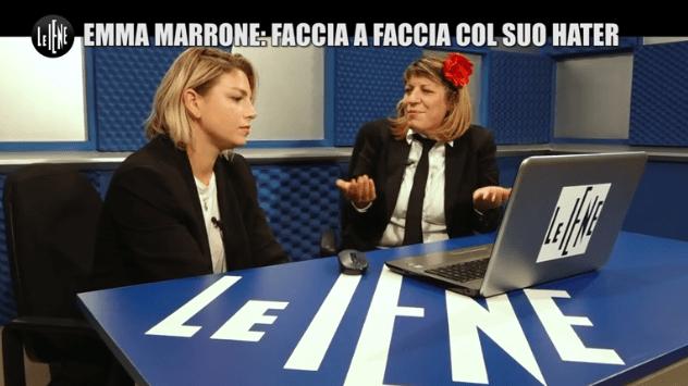 Emma Marrone incontra un hater a Le Iene
