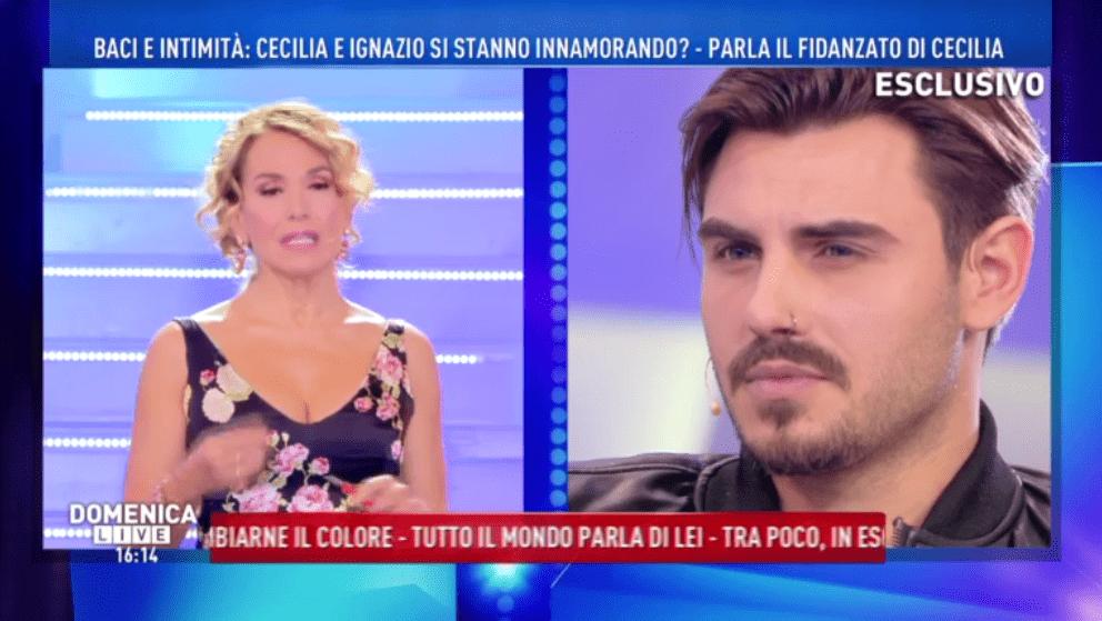 Domenica Live, Francesco Monte: 'Cecilia Rodriguez egoista, Ignazio Moser un viscido'