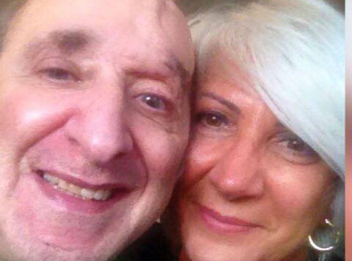 Bruno Arena con la moglie