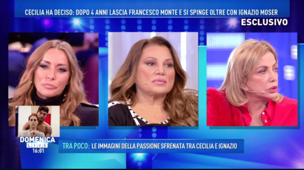 Karina Cascella a Domenica Live