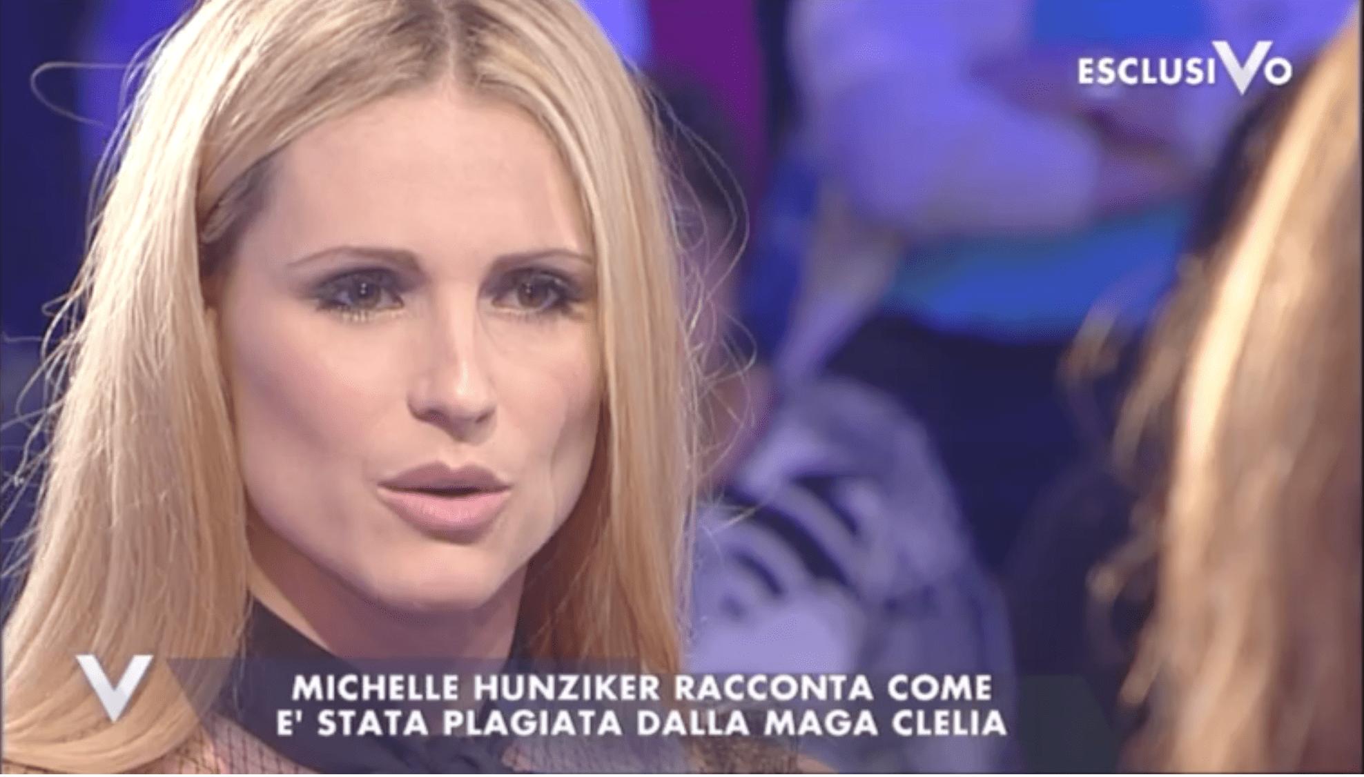 Michelle hunziker parla del padre alcolizzato