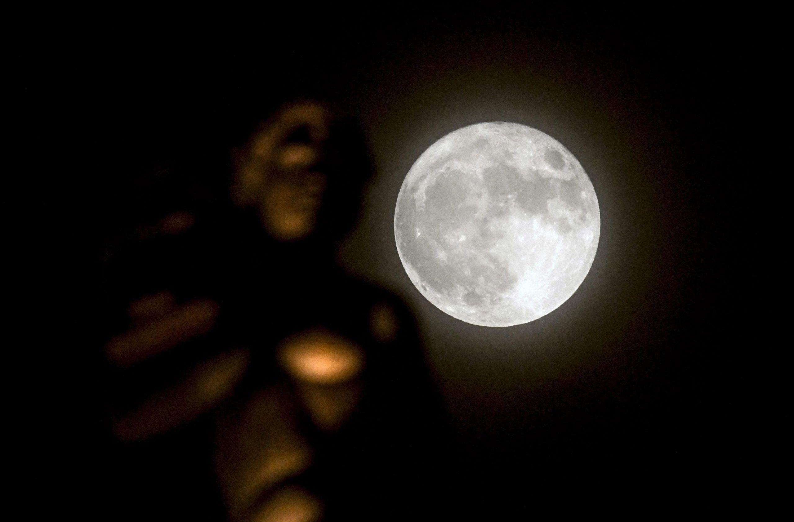 Super moon in Skopje
