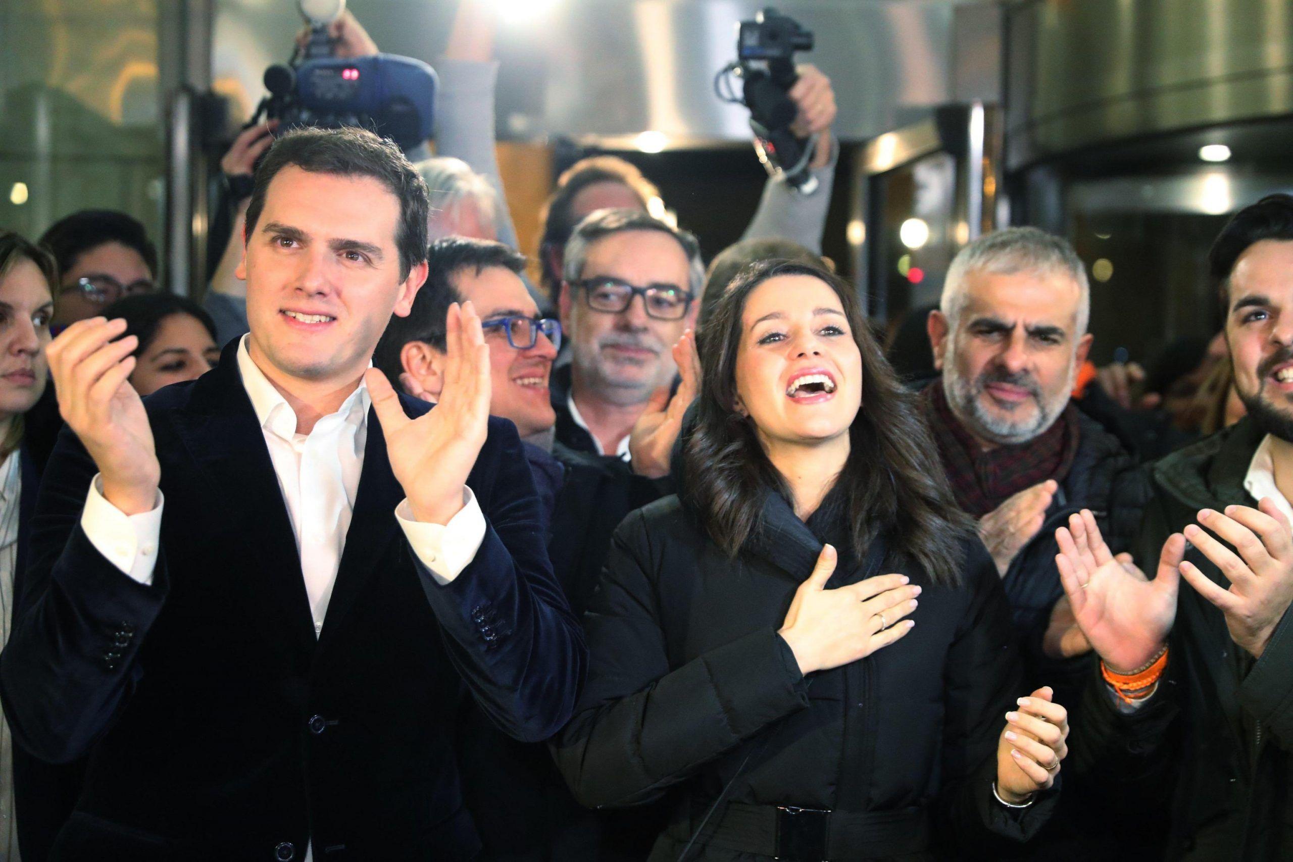 Inés Arrimadas di Ciudadanos con Albert Rivera