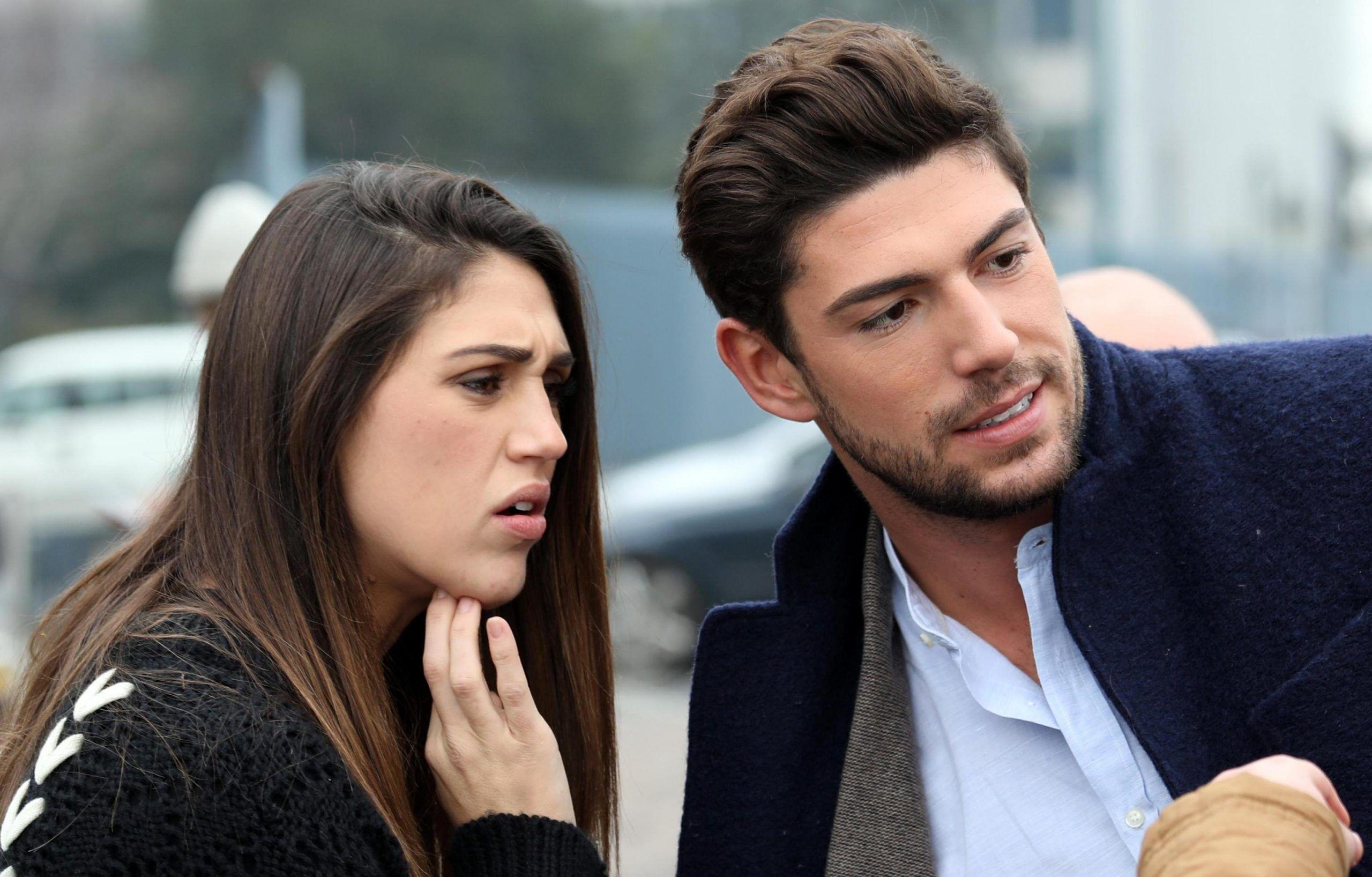 Ignazio Moser e Cecilia Rodriguez davanti gli studi Mediaset