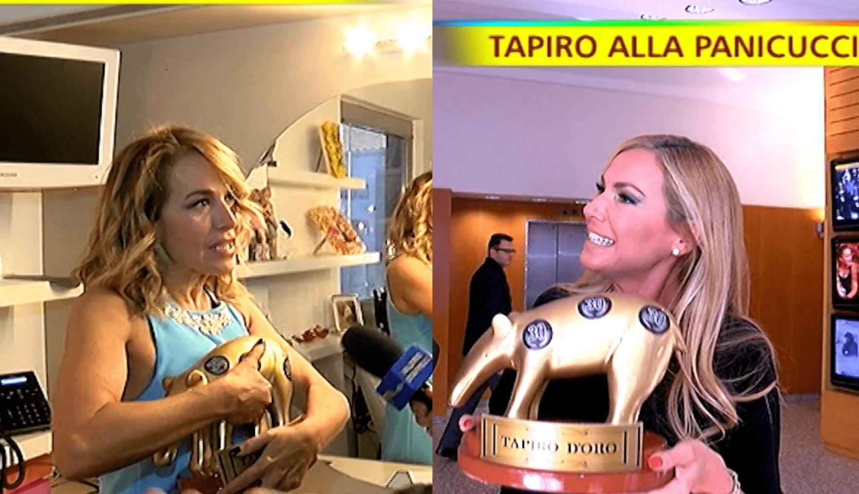 doppio tapiro d'oro federica panicucci barbara d'urso