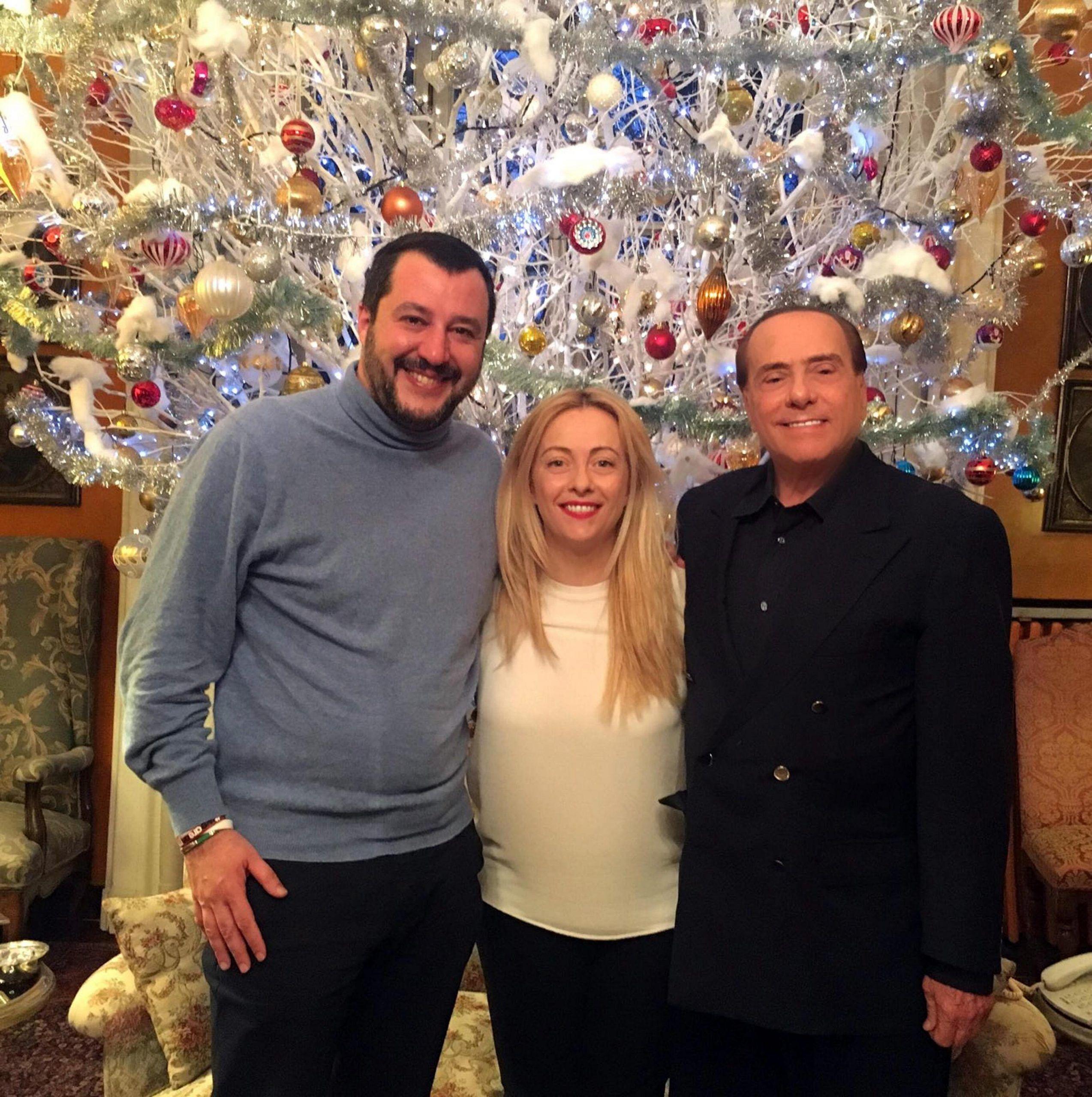 Patto di arcore: Berlusconi, Salvini, Meloni