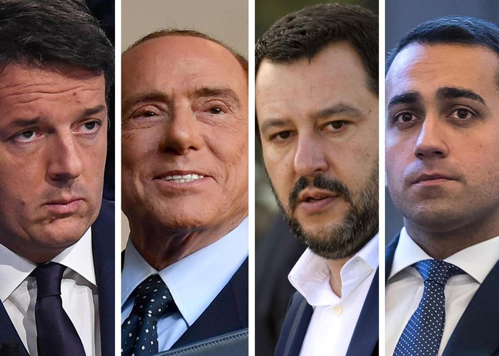 Promesse elettorali elezioni 2018: Renzi, Berlusconi, Salvini e Di Maio