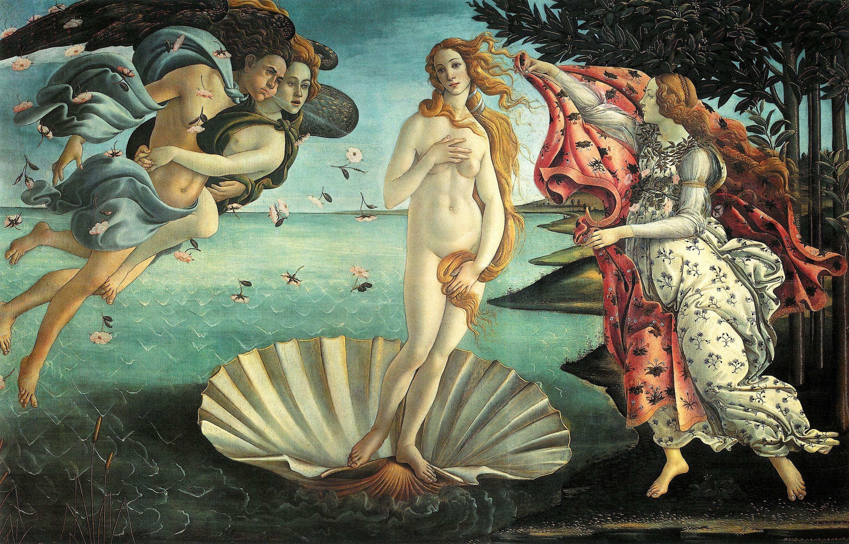 quadri più famosi del mondo nascita di venere