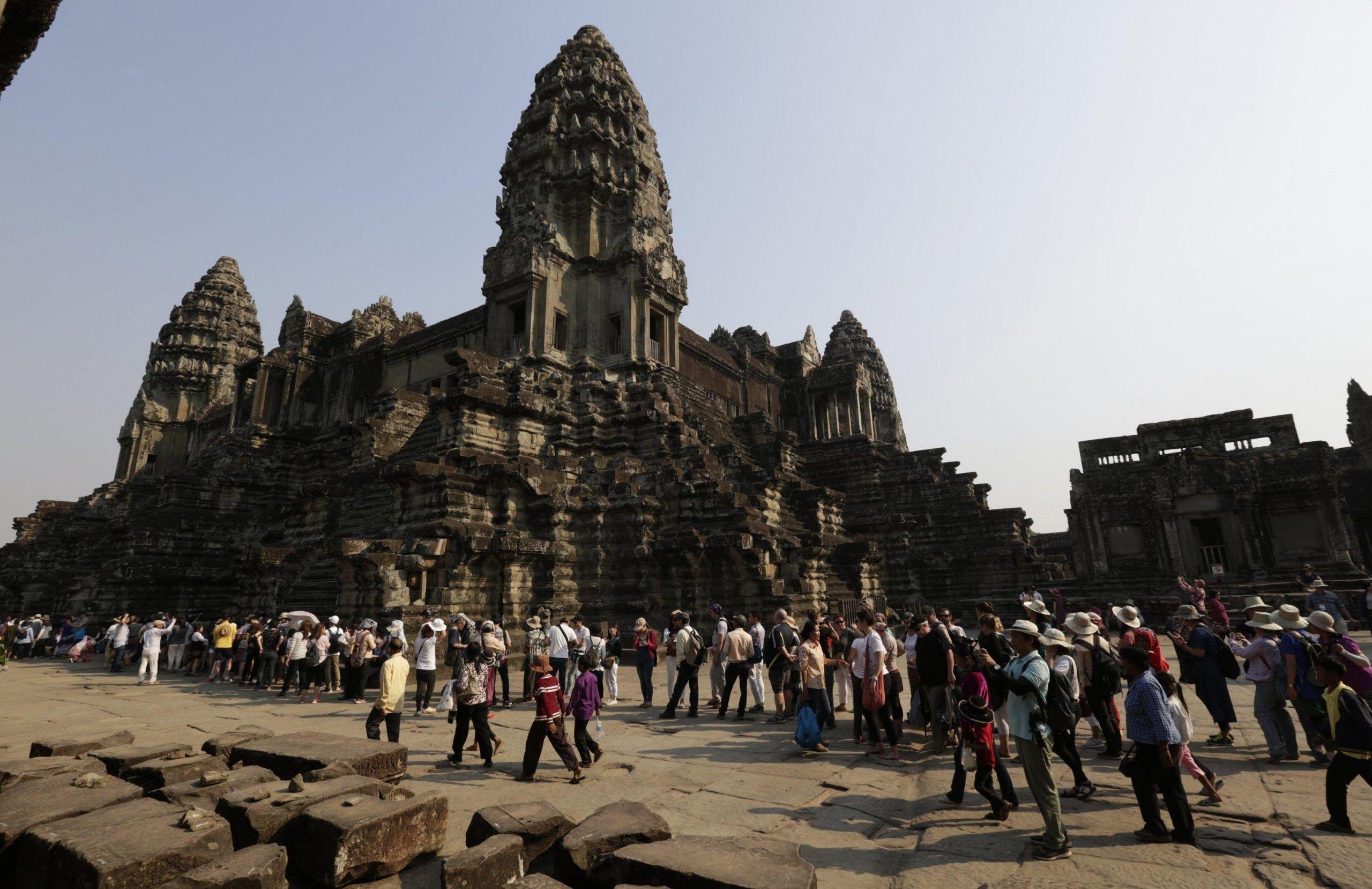 Il complesso di Angkor Watt in Cambogia