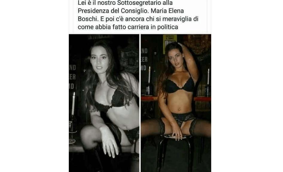 Maria Elena Boschi hot in perizoma: la bufala corre sui social